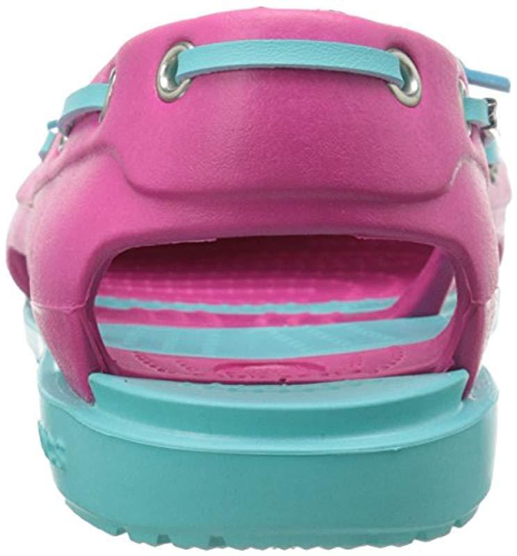 Zapatos Beach Boat Line Crocs�?de color Rosa