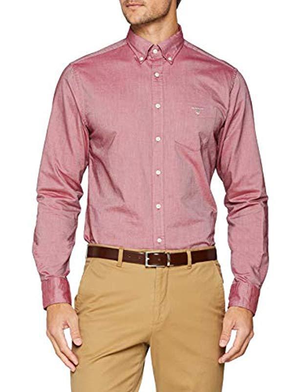 GANT The Oxford Shirt Reg Bd Regular Fit in Red for Men - Lyst 4d7294bec7a1