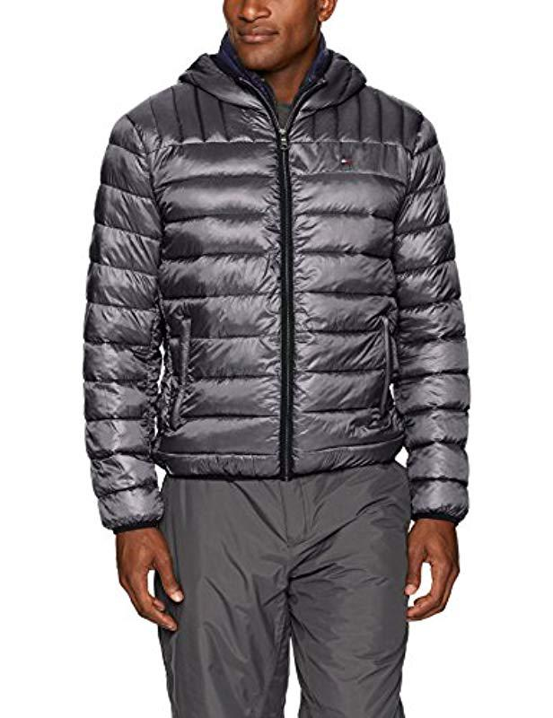 Reaction Kenneth Cole Mens Bonded Midweight Jacket Mightnight Large