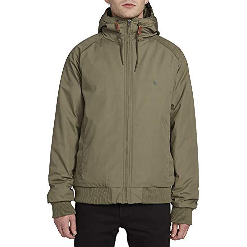 Volcom Mens Hernan Teflon Heavy Weight Hooded Jacket