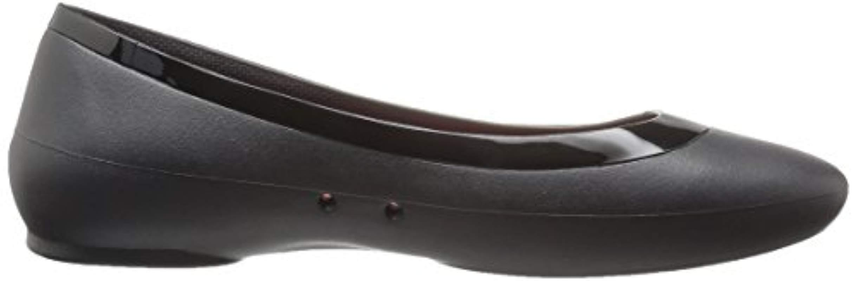 Lina Shiny Flat - Bailarinas Mujer , color Azul, talla 38/39 EU Crocs�?de color Negro