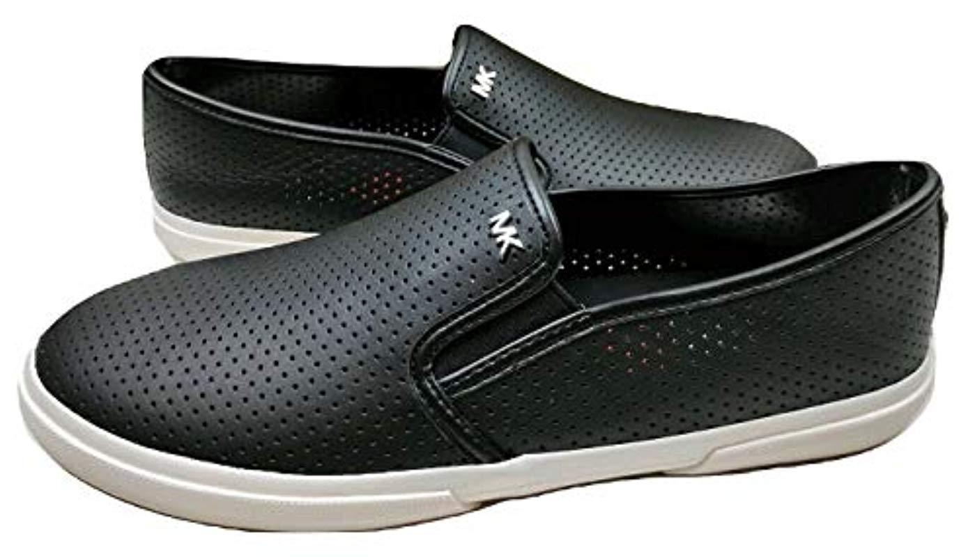 8e1861cd4021e Women's Michael Boerum Double Gore Lasered Leather Slip-on Trainer Black