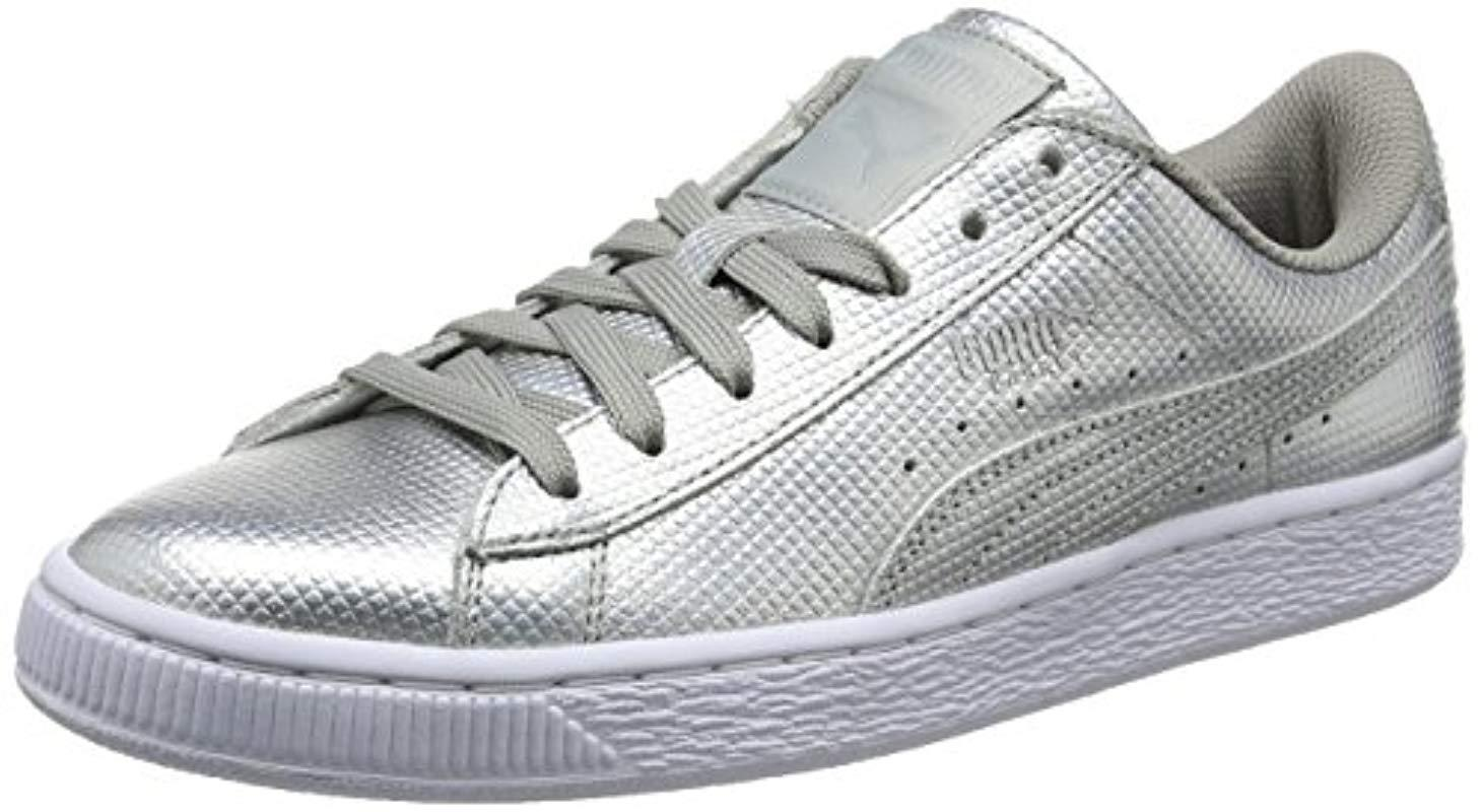 e0ca6e58c1 Puma Unisex Adults  Basket Classic Holographic Low-top Sneakers in ...