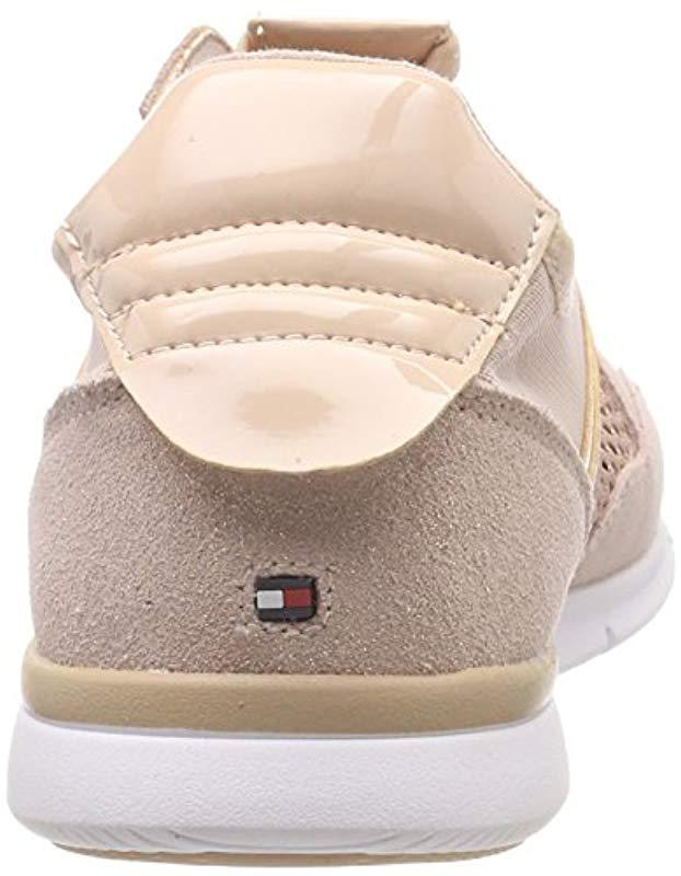60ebecddf7c0f Tommy Hilfiger Metallic Light Weight Sneaker Low-top in Pink - Lyst