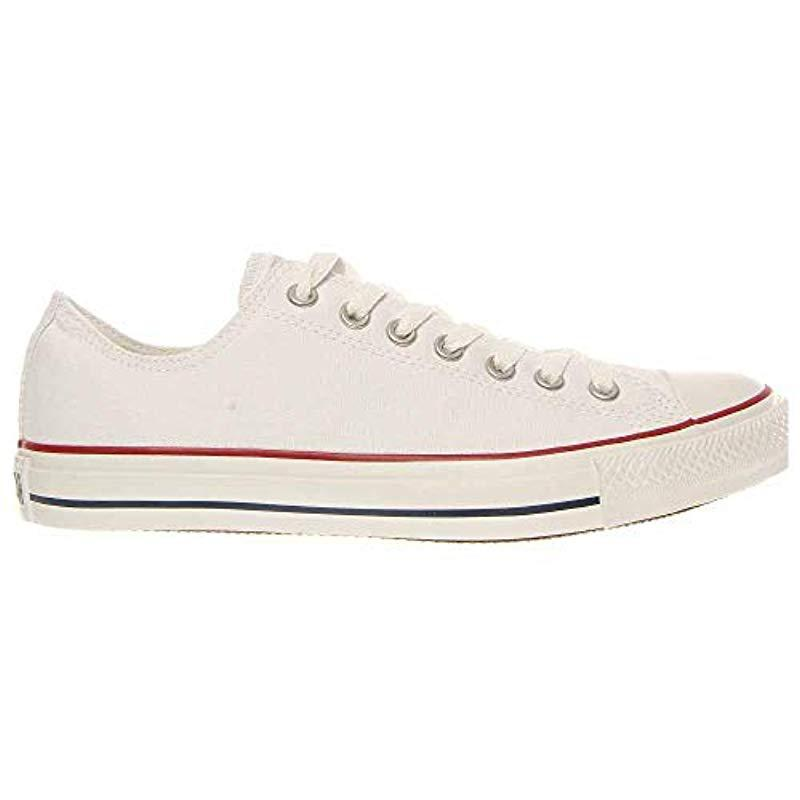 1d896caa35a2bd Converse - Unisex Chuck Taylor All Star Low Top Optical White Sneakers - 6  B(. View fullscreen