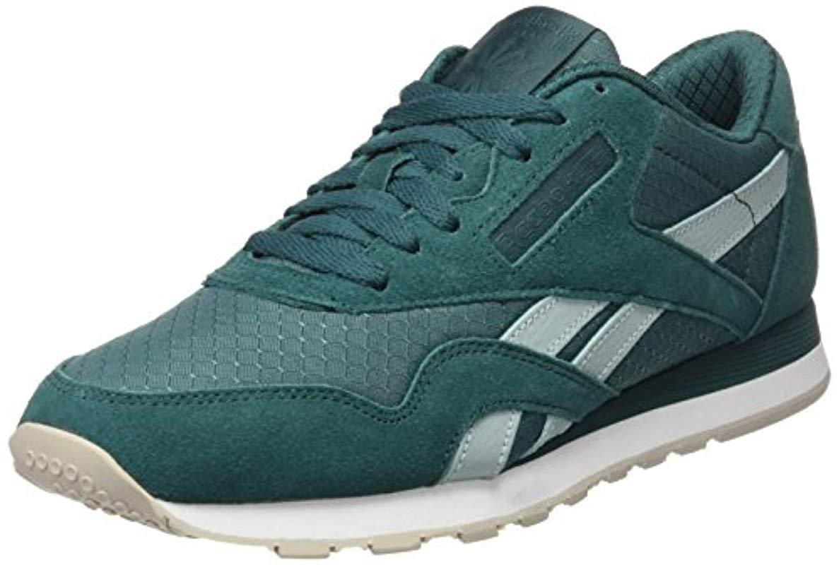 0e63079747e Reebok Classic Nylon Rs Trainers in Green for Men - Lyst