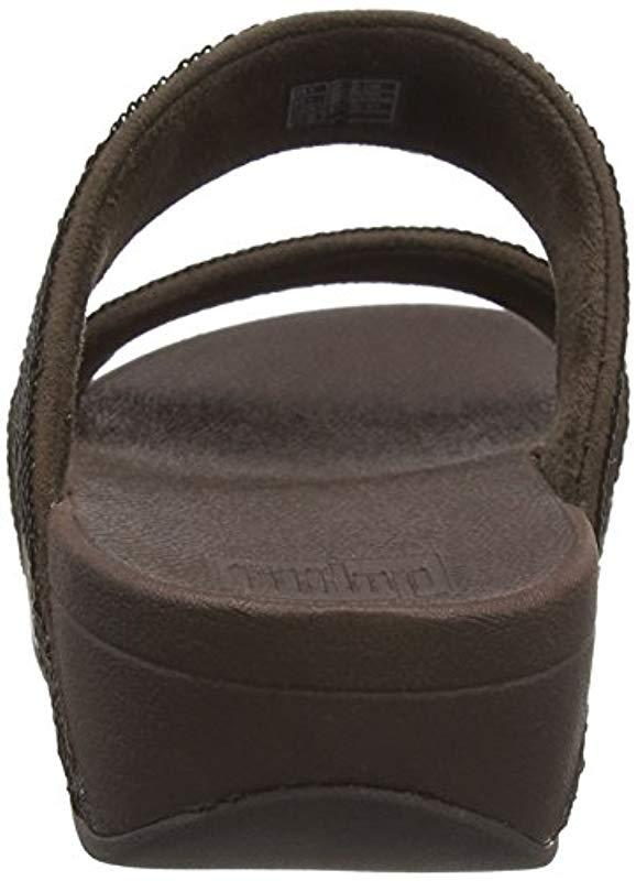 a1fcd55e12b Fitflop - Brown Electra Micro Slide Open Toe Sandals - Lyst. View fullscreen