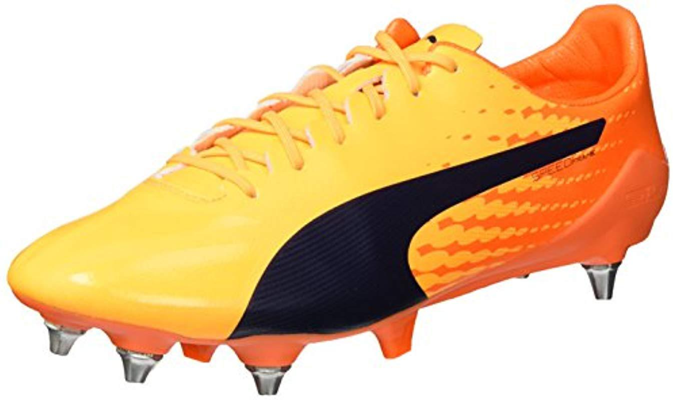 ae1b381bf PUMA 's Evospeed 17 Sl S Mx Sg Football Boots in Orange for Men - Lyst