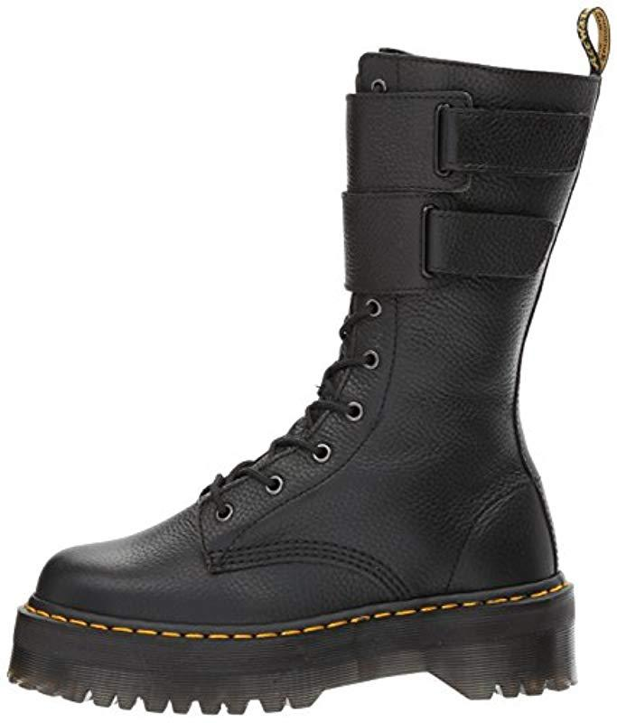 Dr. Martens Leather Jagger Fashion Boot in Black