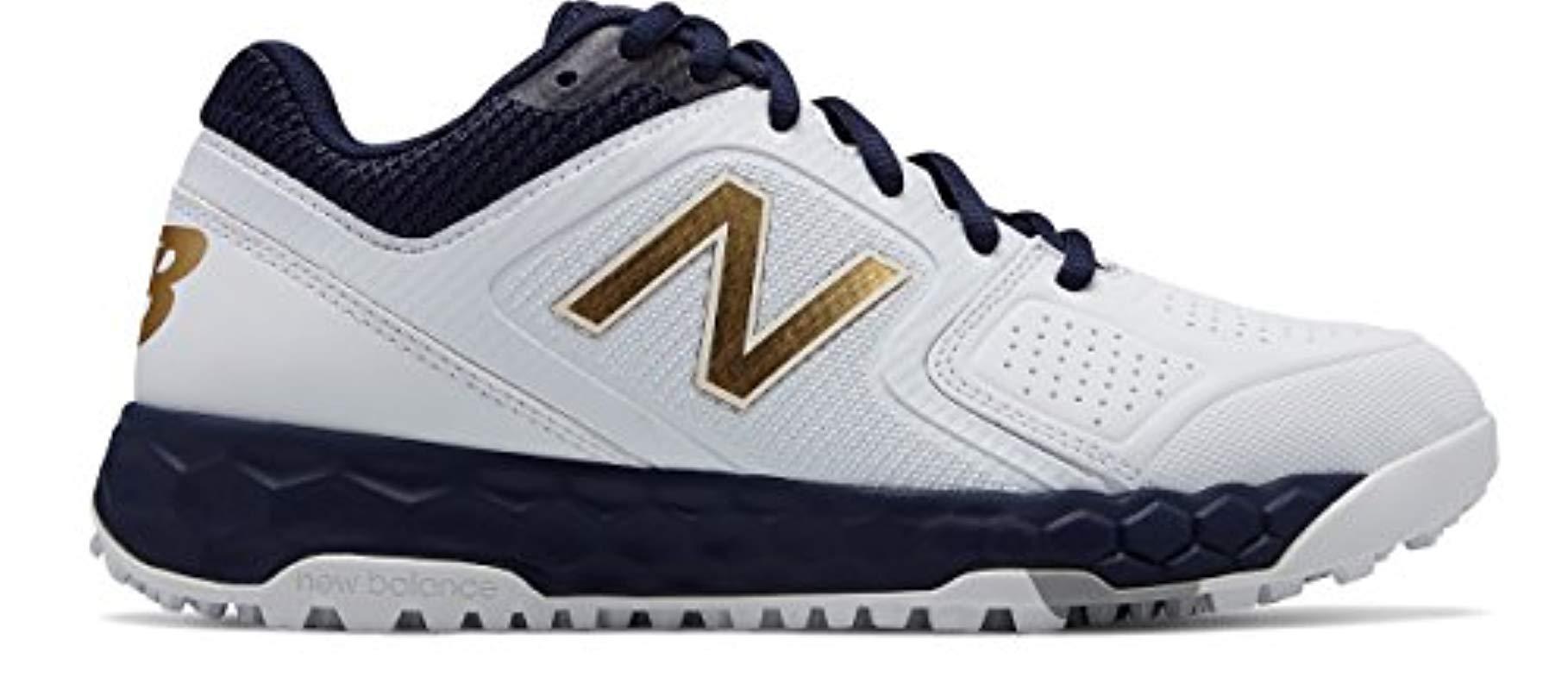 f005a9e7b Lyst - New Balance Velo V1 Turf Softball Shoe Navy white 11 B Us in Blue