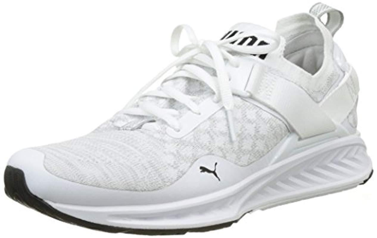 new concept a5164 04b78 Men's White Ignite Evoknit Lo Training Shoes (189904)