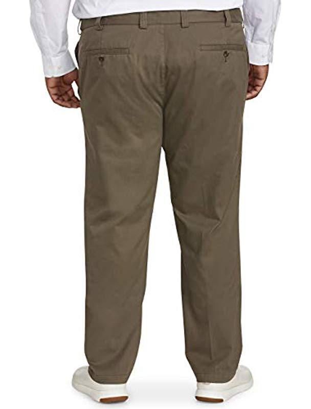 Essentials Mens Big /& Tall Athletic-fit Casual Stretch Khaki Pant fit by DXL fit by DXL