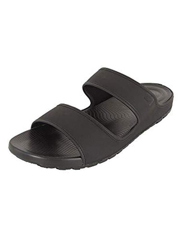 989d429ccc97e Men's Black Lido Tm Double Slide Sandals In Neoprene Flip Flops