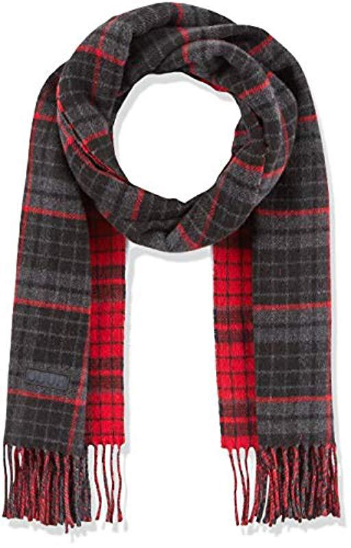 Hugo -z 473 Scarf, Grey (charcoal 015), One (manufacturer Size  Stck ... 4cfc2fbe802
