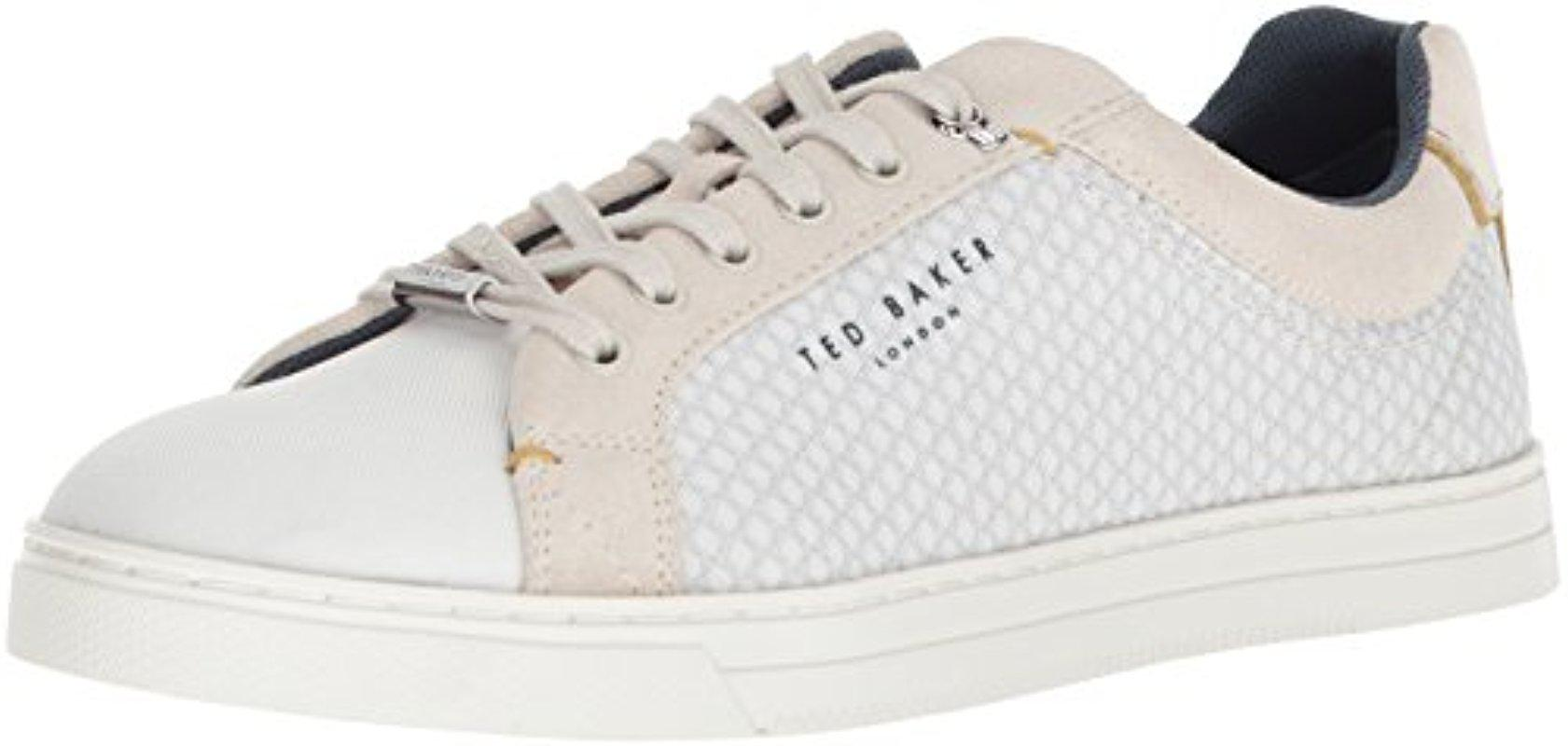 Ted Baker Suede Sarpio Sneaker in White