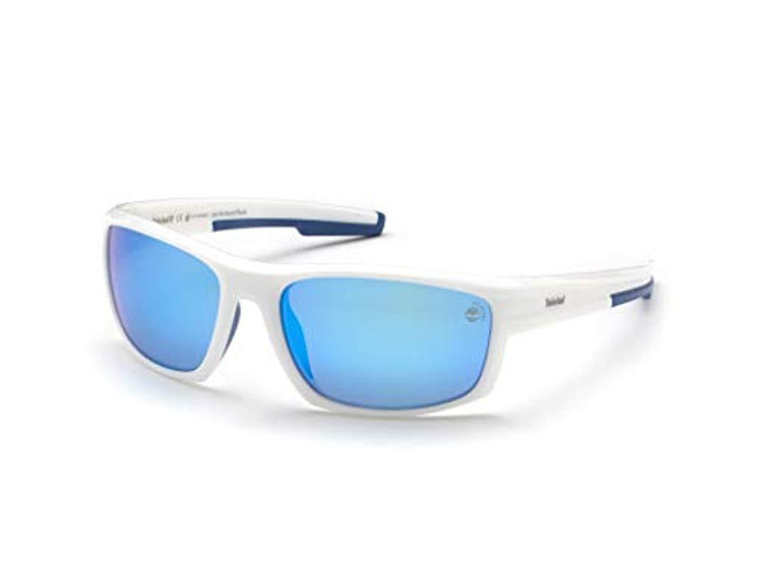 287ded5acd Timberland Tb9171 Sunglasses, (white/smoke Polarized), 63.0 in White ...