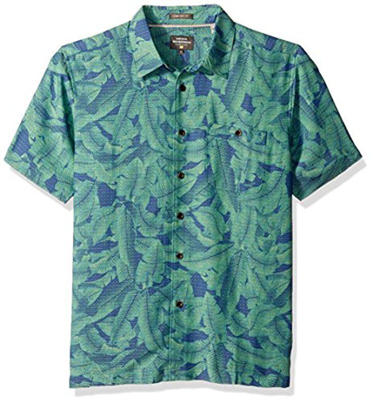 d46450922 Quiksilver - Blue Banana S Comfort Fit Button Down Casual Shirt for Men -  Lyst