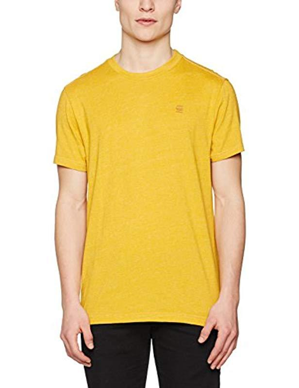 bd7d9470 G-Star RAW Venzou R T S/s T-shirt Black in Yellow for Men - Lyst