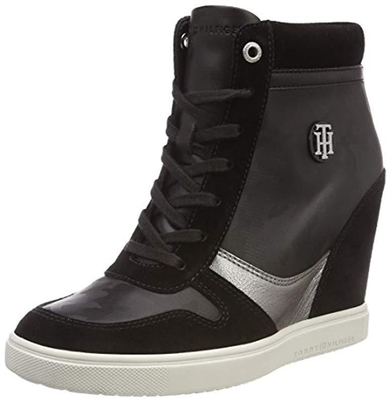 f7dcd4e3067 Tommy Hilfiger  s Camo Metallic Dress Sneaker Low-top in Black - Lyst