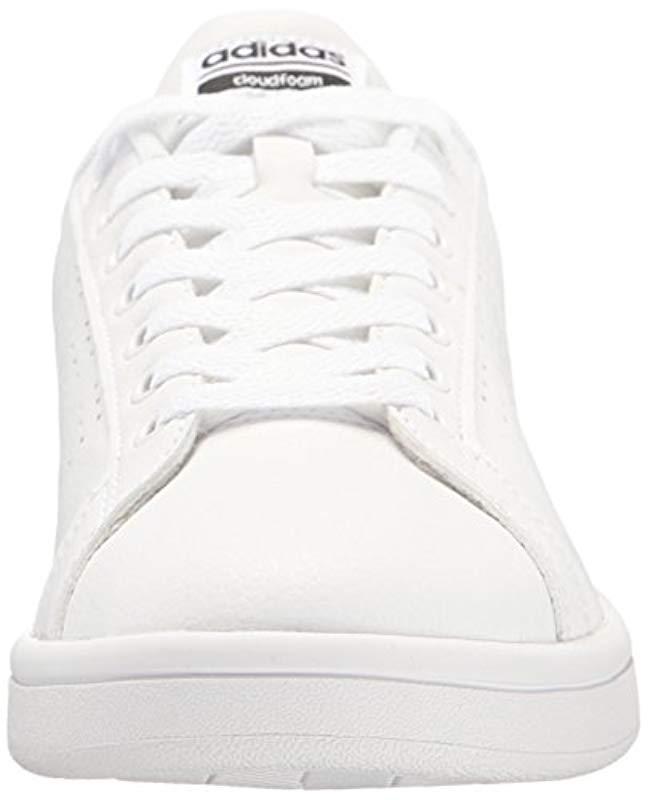 adidas Shoes Cloudfoam Advantage Clean Sneakers White/white/black, (8 M Us)