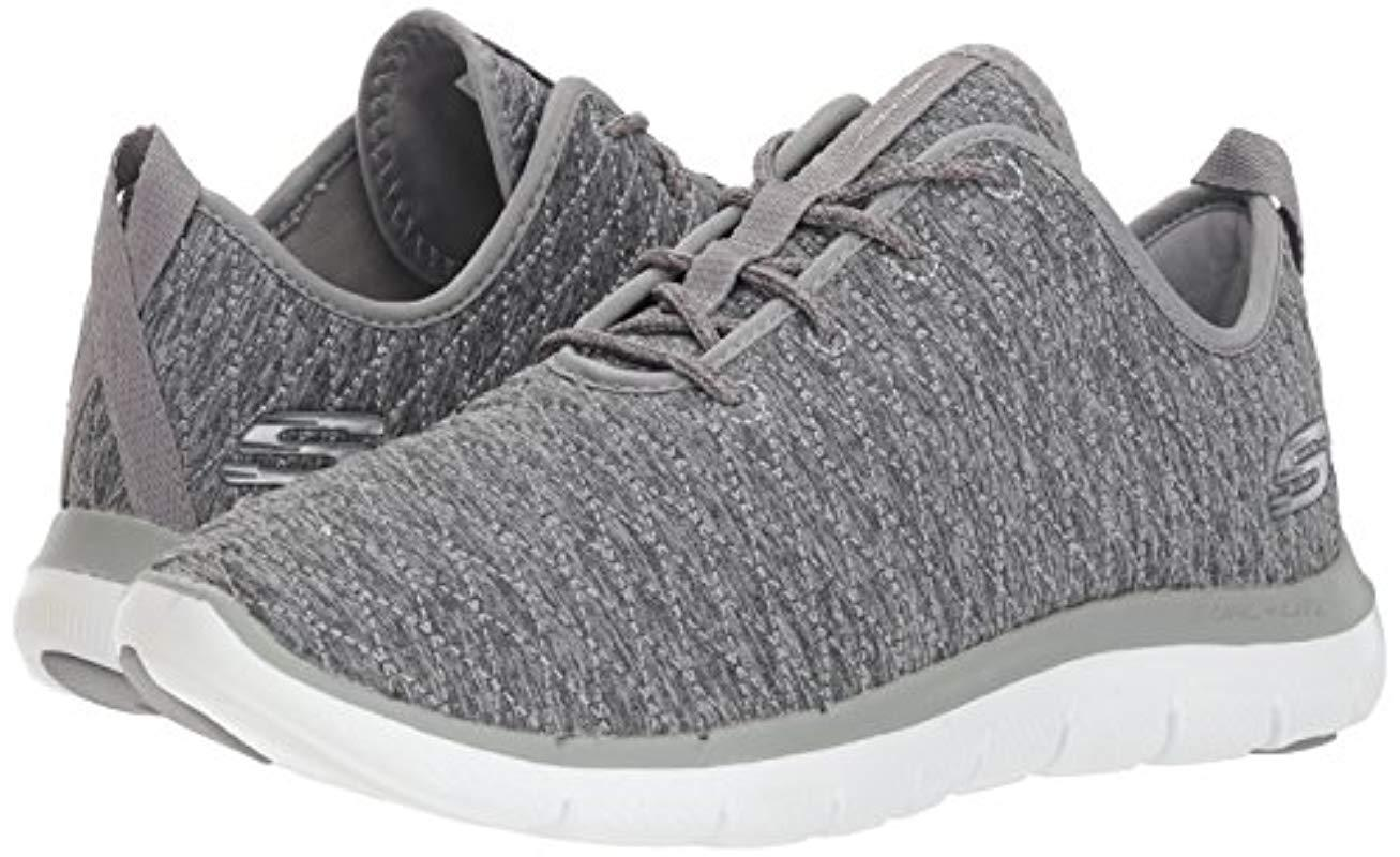 Skechers Flex Appeal 2.0 First Impressions Women Synthetic Gray Sneakers