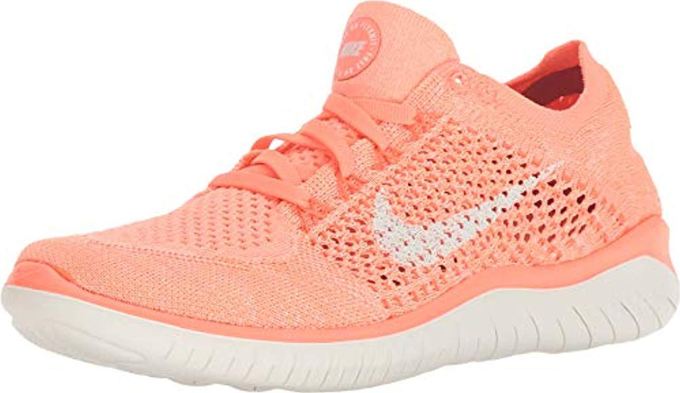 3bc38f64a92f4 Nike Wmns Free Rn Flyknit 2018 Running Shoes in Pink - Save 20% - Lyst