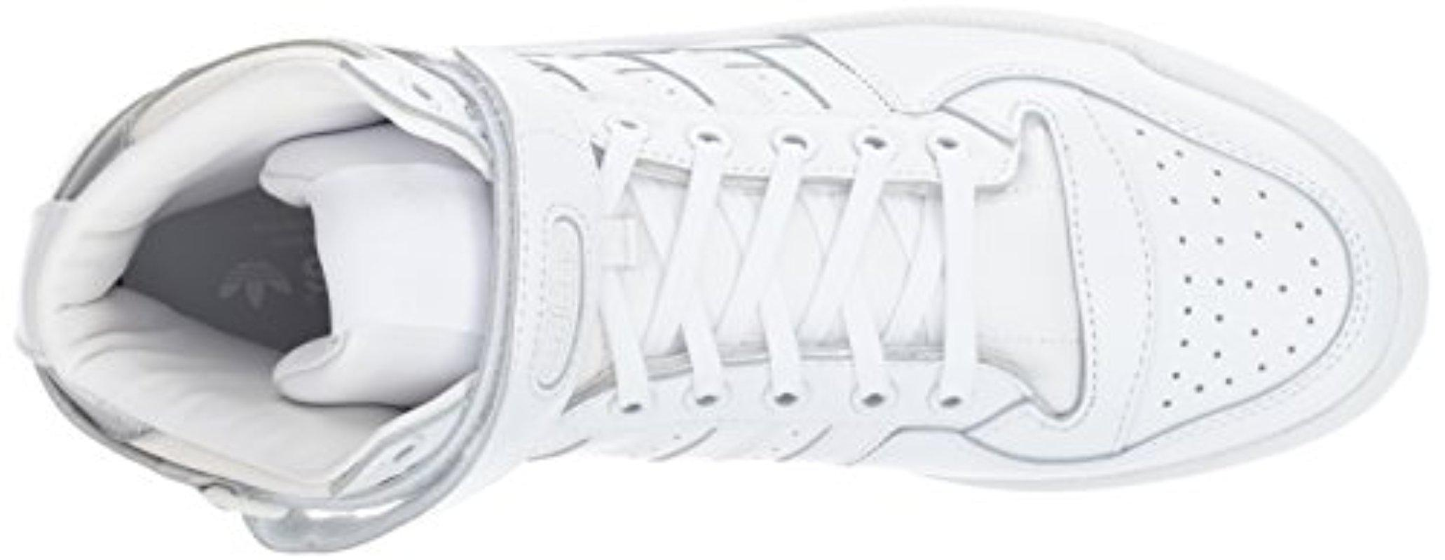 b9d4d429b4e5 ... coupon code for lyst adidas originals shoes forum mid refined sneakers  white 5eddf bbc9b
