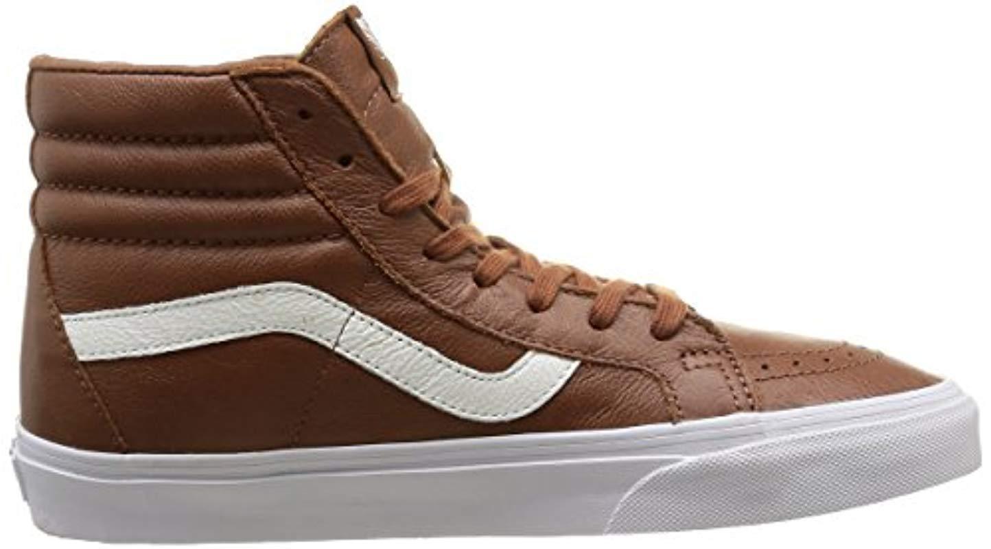 U Sk8-hi Reissue Leather, Baskets Basses Mixte Adulte Vans pour homme en coloris Marron  R2S9