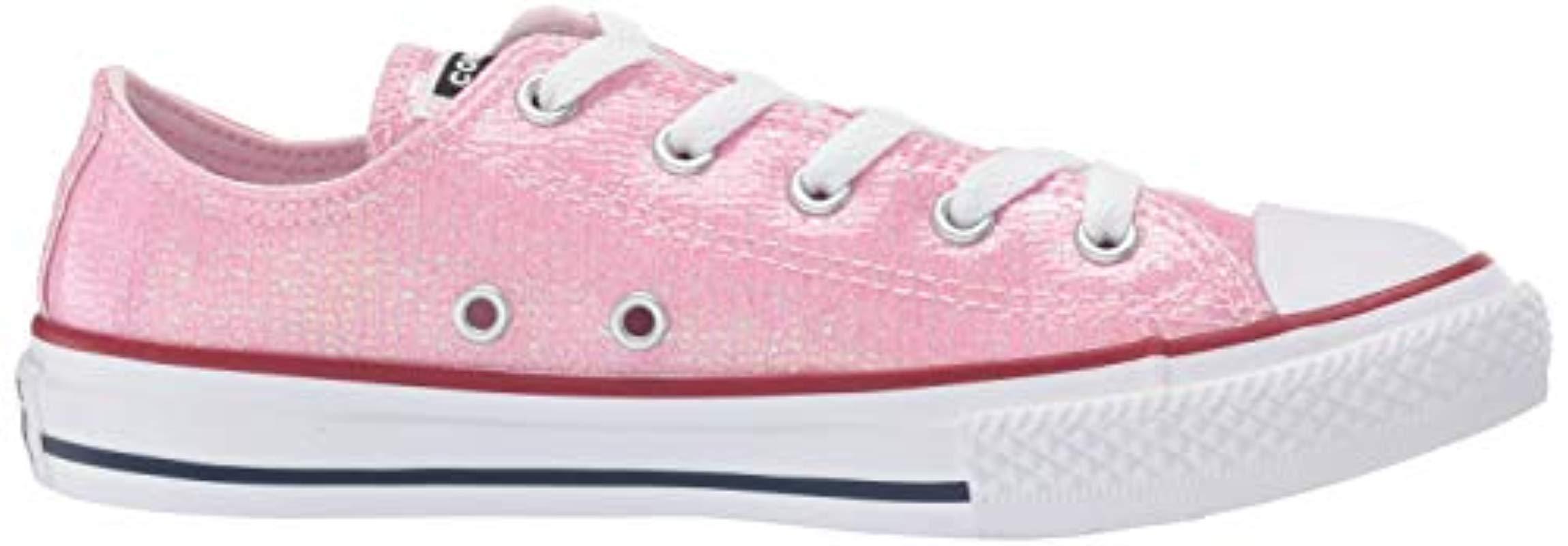 Chuck Taylor All Star, Zapatillas de Lona Infantil Converse de hombre de color Rosa