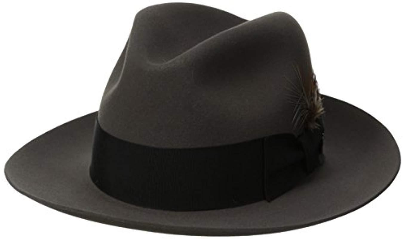 e17fda23dece0 Lyst - Stetson Pinnacle Excellent Quality Fur Felt Hat in Gray for Men