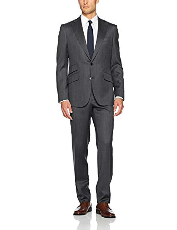 Robert Graham Mens Chayno Modern Fit 2 Button Notch Lapel Side Vent Suit
