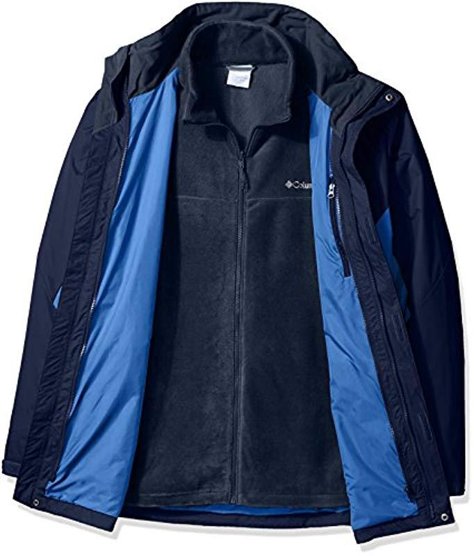 Columbia Fleece Big-tall Big & Tall Eager Air Interchange 3-in-1 Jacket in Blue for Men