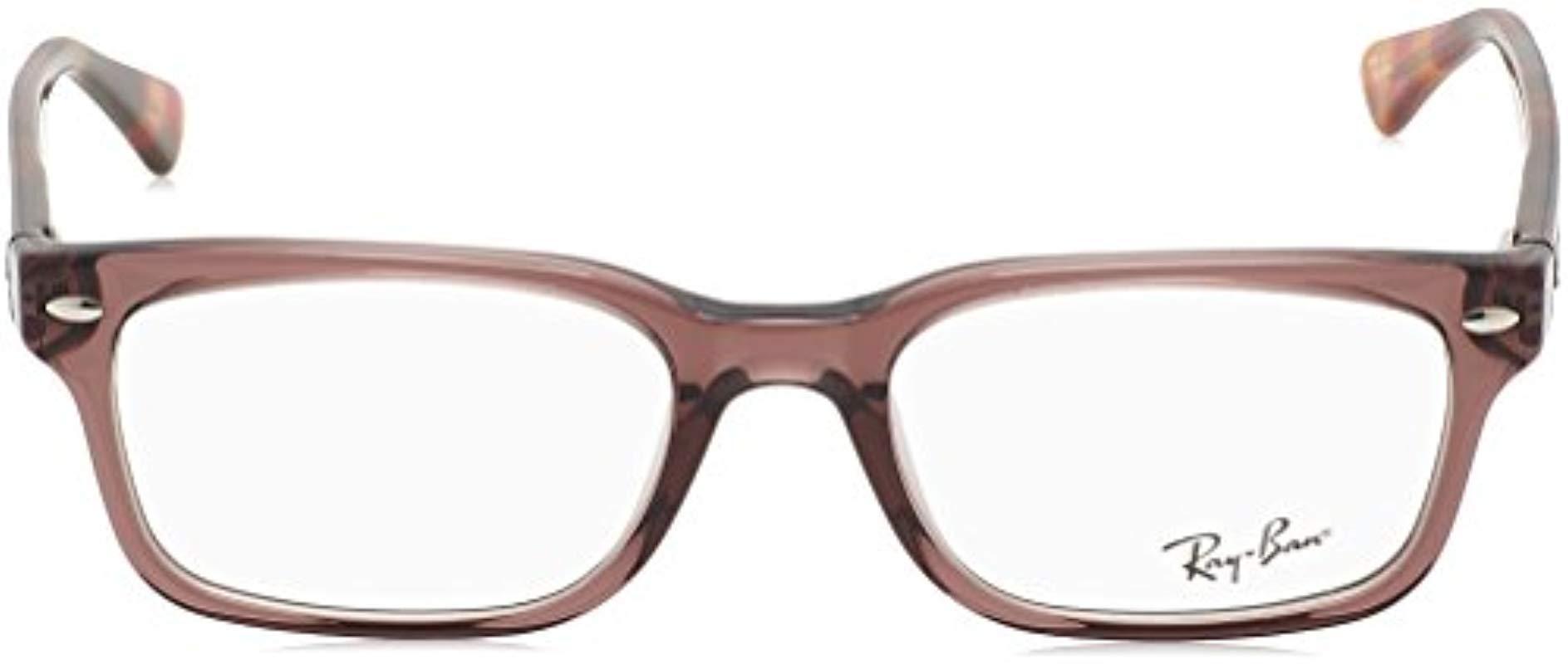 05e77c8e22888 Ray-Ban - Brown Rx5286 Eyeglasses - Lyst. View fullscreen