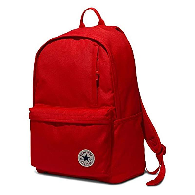 Lyst - Converse Chuck Taylor Patch Backpack In Red in Red for Men ... 53429267ae09b