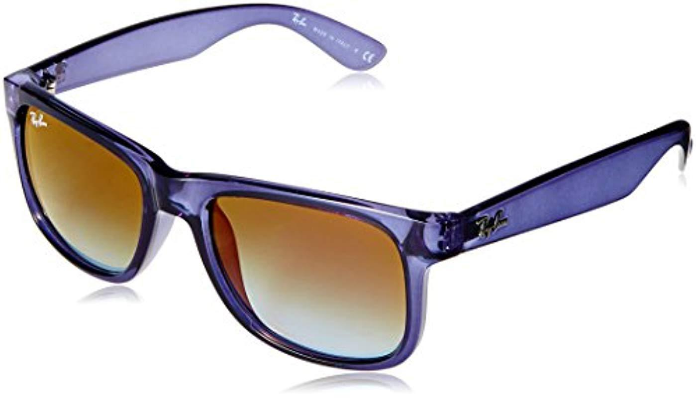 1c2b4207543c6 Ray-Ban. Men s Rayban 0rb4165 6341t0 51 Sunglasses, Transparent Blue  Gradient Green Mirror Red