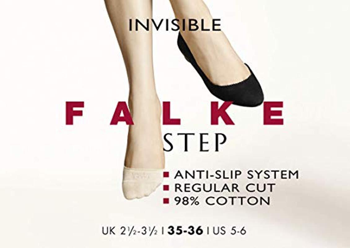 Cream Falke Womens Step Invisible Sneaker Socks