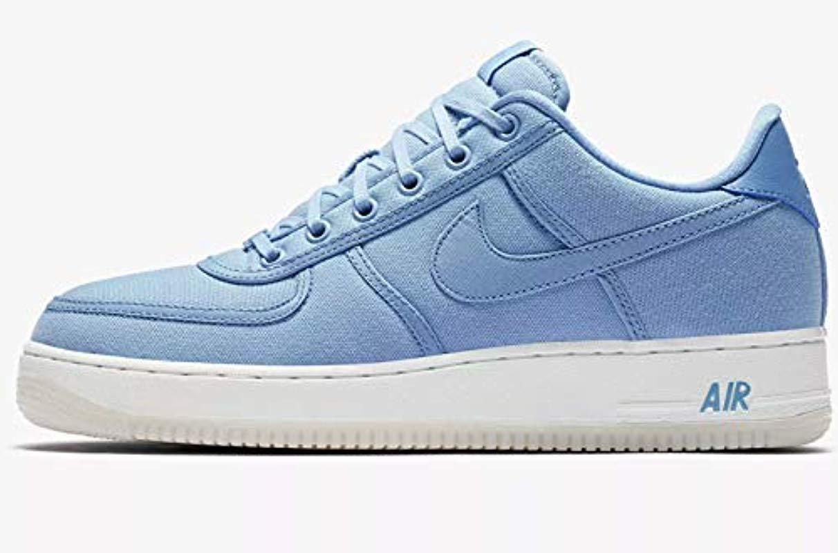 b1401f54a5f3b Men's Blue Air Force 1 Low Retro Qs Cnvs S Trainers Ah1067 Trainers Shoes