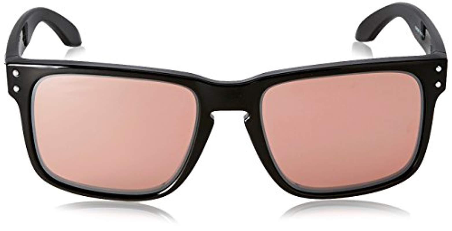 e0a027a42fcb8 Oakley - Black Holbrook Non-polarized Iridium Rectangular Sunglasses for  Men - Lyst. View fullscreen