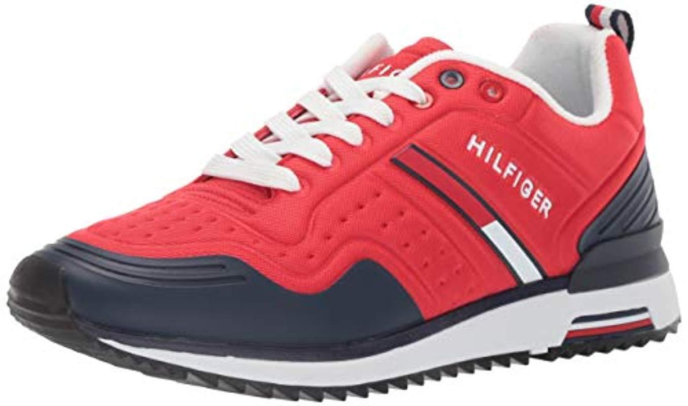 Tommy Hilfiger Vion Sneaker in Dark Red