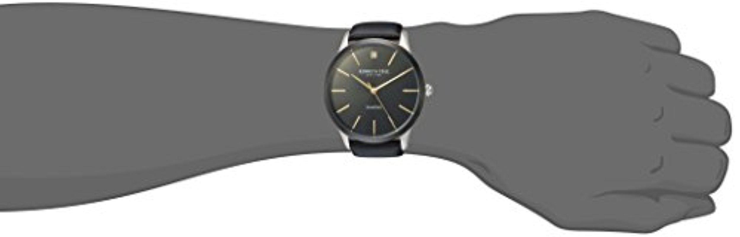 Steel Men Stainless blackmodelKc15111003For Leather Cole Quartz 'diamond' Kenneth Dress And WatchColor ZXOkuiTP