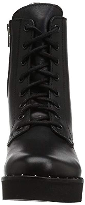 Steve Madden Lace S Rocco in Black Leather (Black)