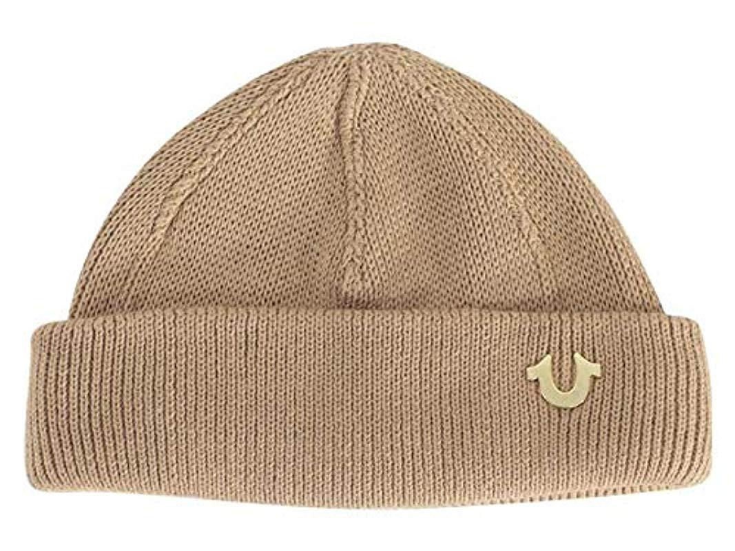e4ee7b81 Lyst - True Religion Cotton Watchcap in Natural for Men