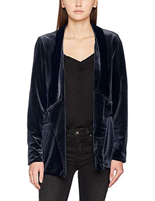 Vero Moda Vmagnes Velvet Ls Jacket Jrs in Blue - Lyst e8df267c67e3