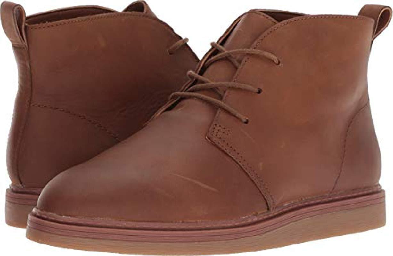Complejo Muy lejos Reorganizar  Clarks Suede Dove Roxana Chukka Boot in Dark Tan Leather (Brown) - Save 9%  - Lyst