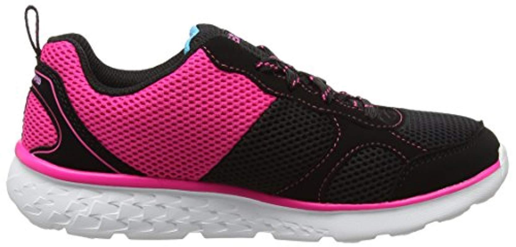 Go Run 400, Entrenadores para Niñas Skechers de color Negro