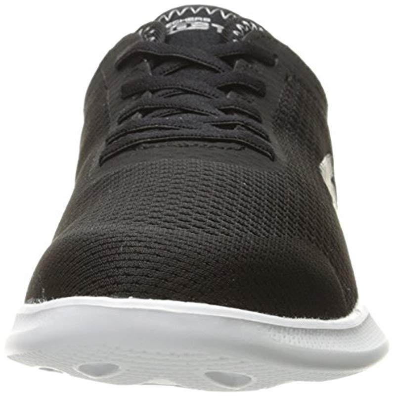 Skechers Performance Go Step Lite-persistence Sneaker,black/white,5.5 W Us