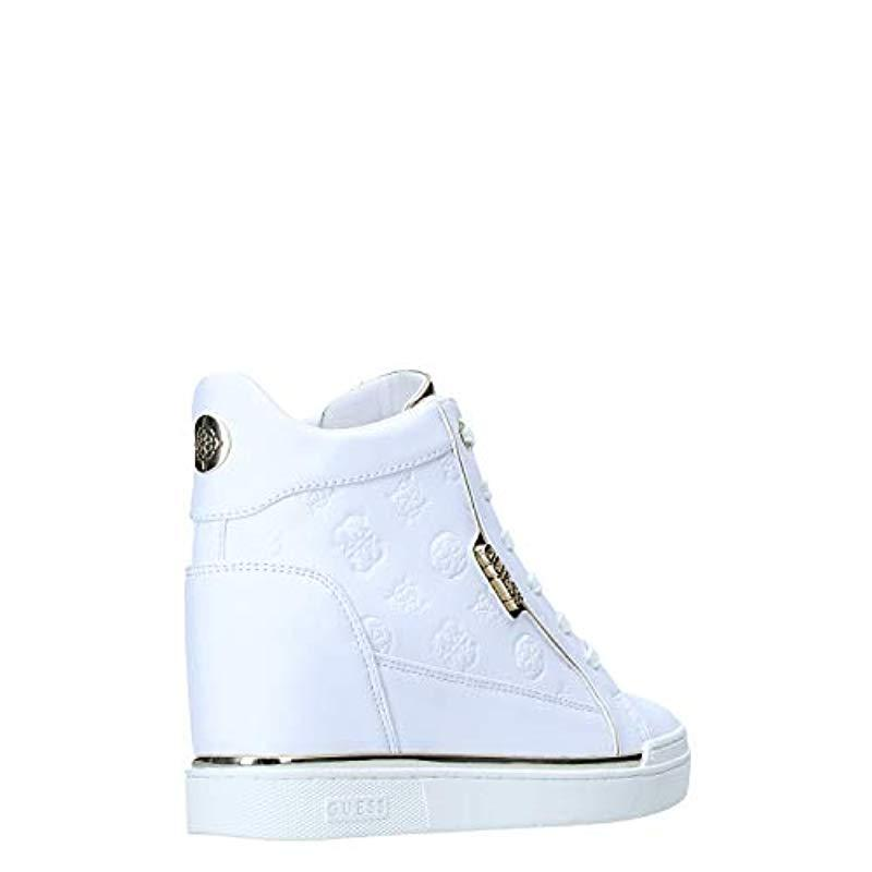 Fabia/Stivaletto (Bootie)/Leat, Zapatillas Altas para Mujer Guess de Denim de color Blanco