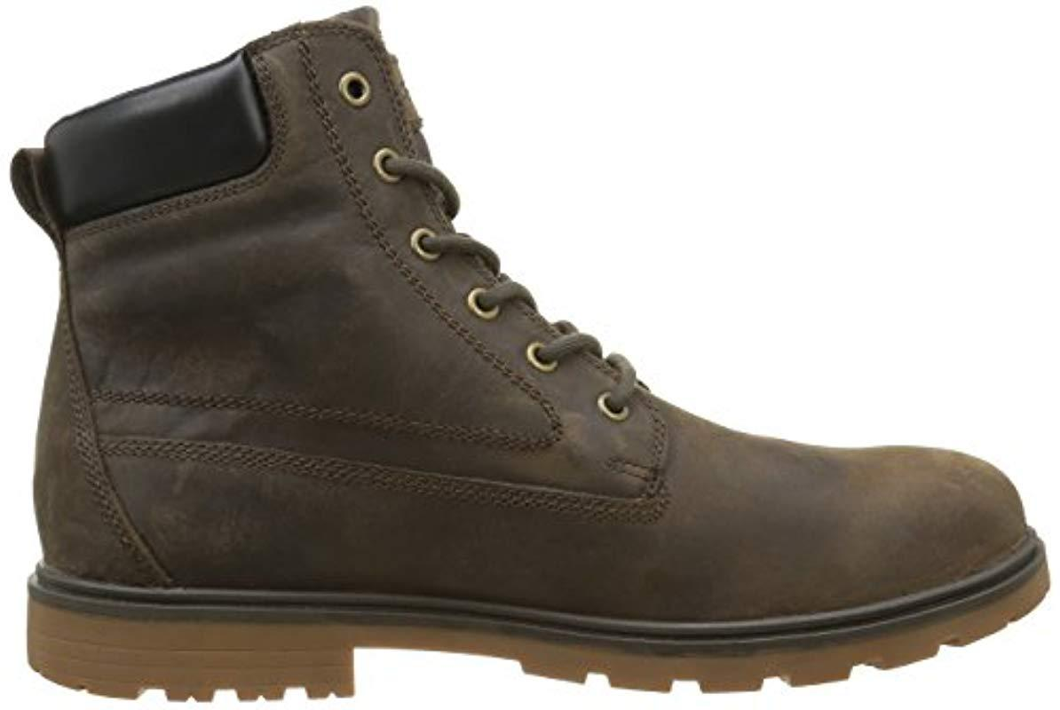 Geox U Akim B Abx B Mens Leather Waterproof Boots Ankle Ranger Shoes All Brown