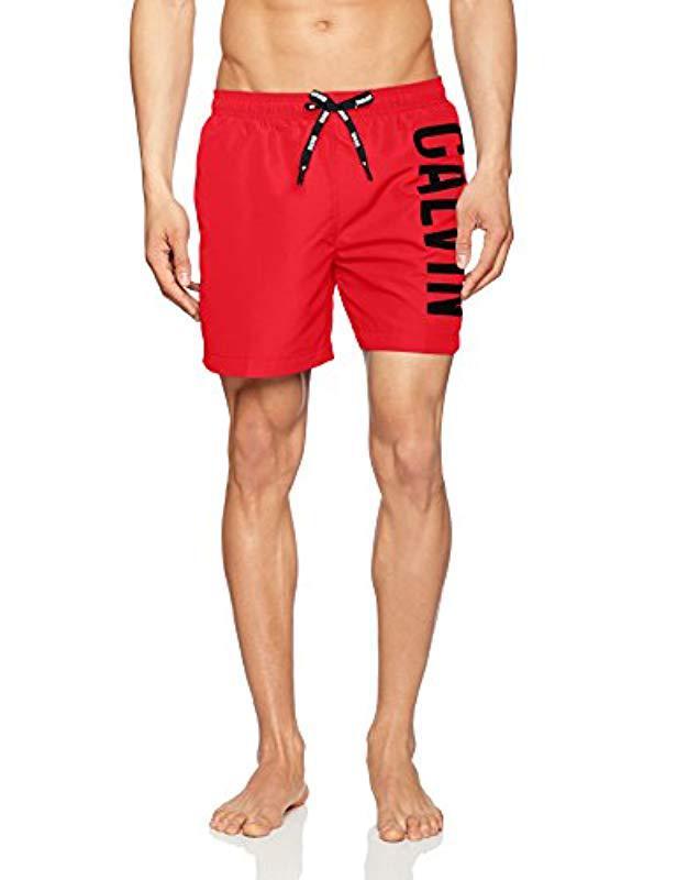 15f9799bb3 Calvin Klein Medium Drawstring Shorts in Red for Men - Lyst