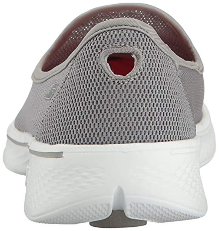 91489a342419 Skechers - Gray Go Walk 4-airy Shoe - Lyst. View fullscreen